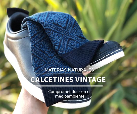 Calcetines colección Vintage hechos con materiales naturales
